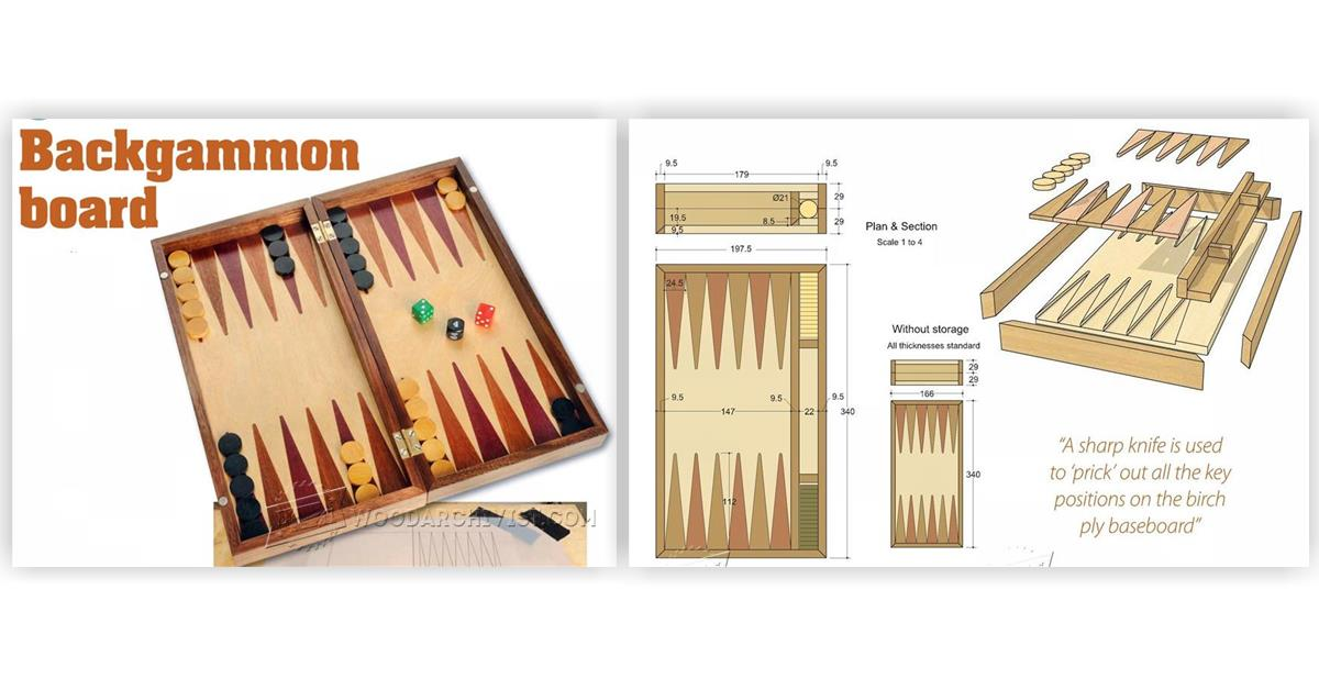 how to build a backgammon board