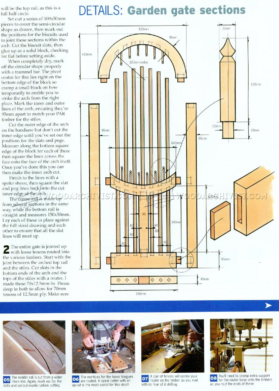 Wooden Garden Gates Plans Woodarchivist