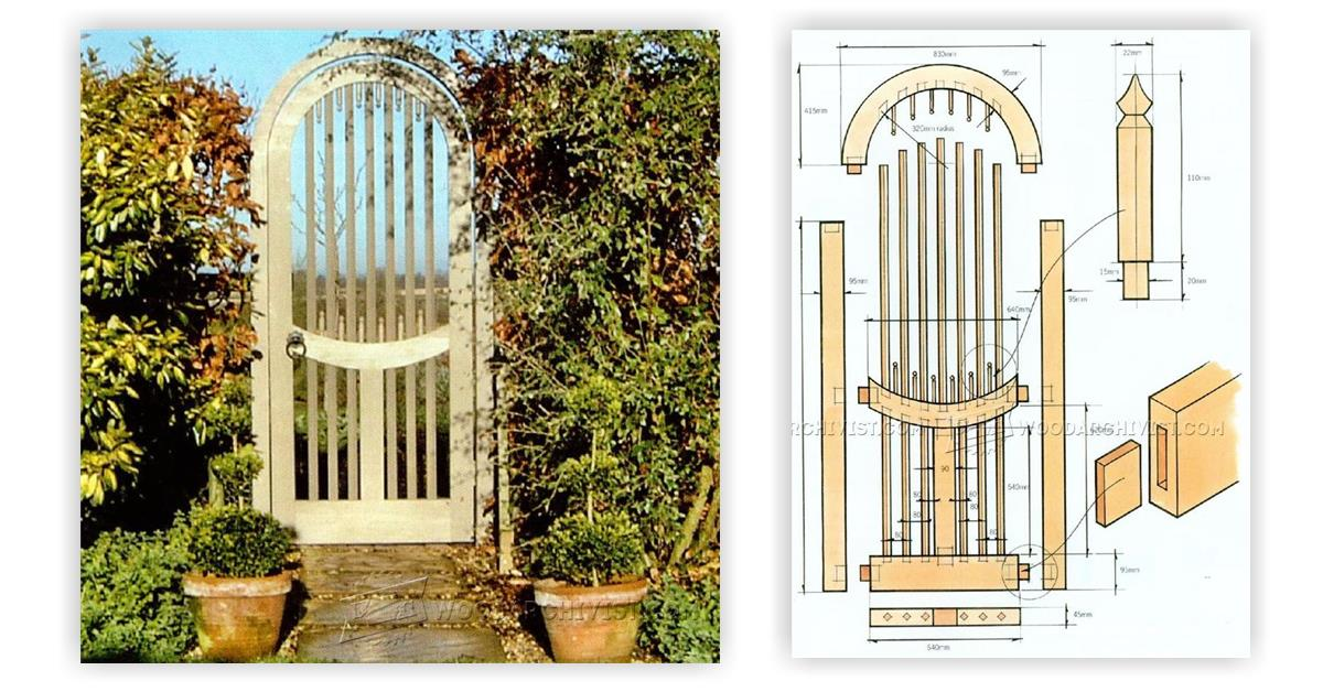 Wooden Garden Gates Plans • WoodArchivist