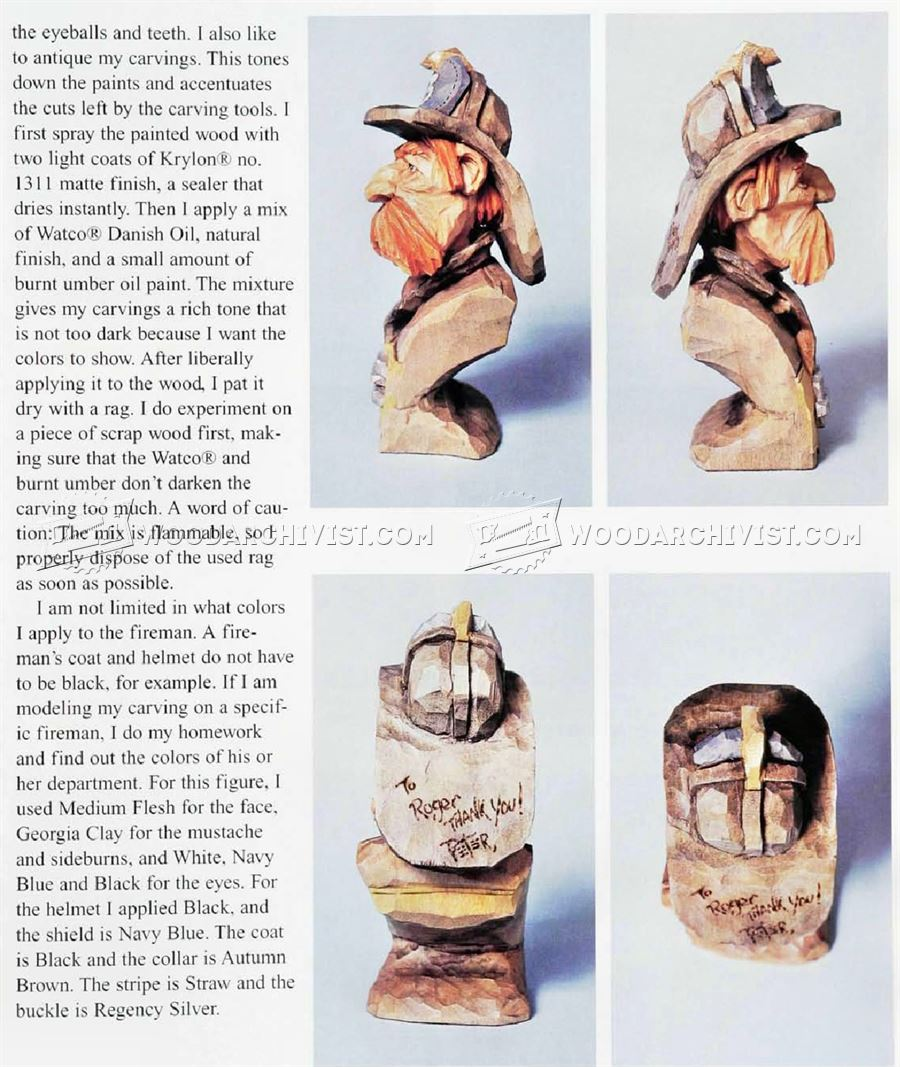 Fireman Bust - Carving Caricature