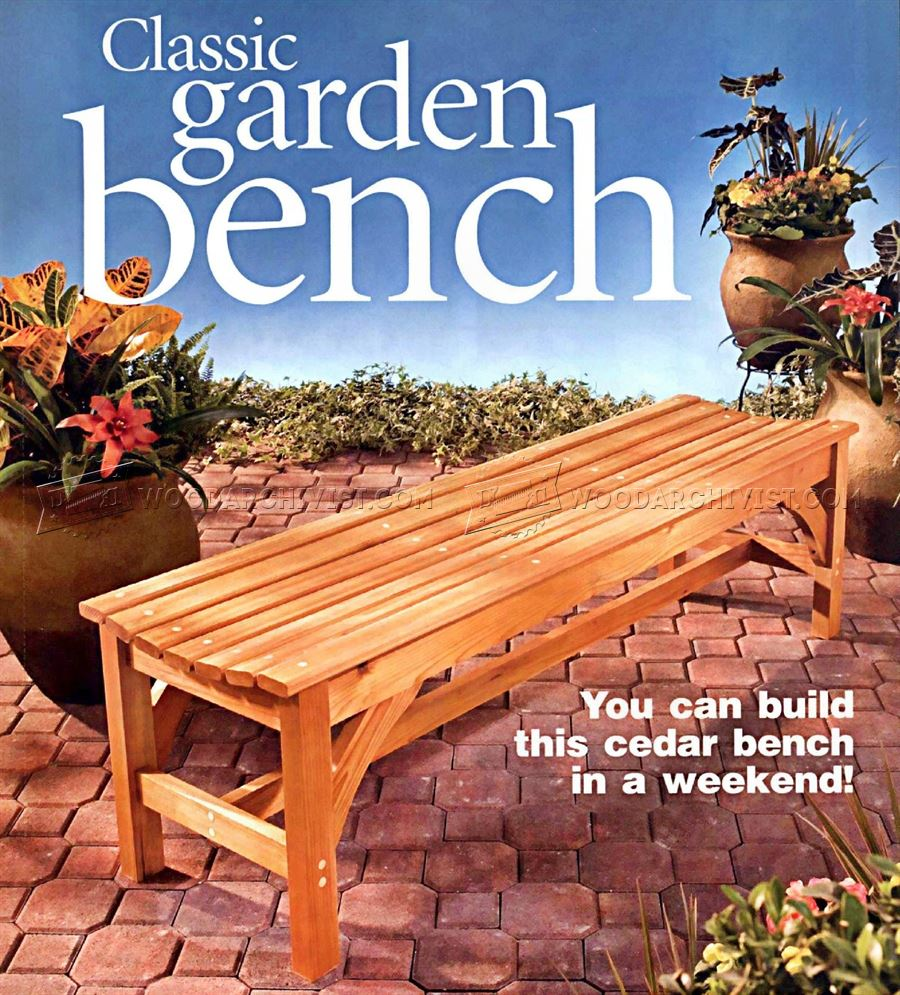 DIY Garden Bench WoodArchivist – Diy Garden Bench Plans