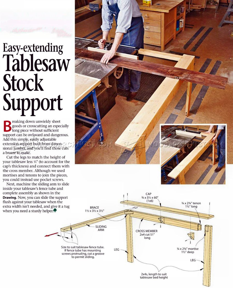 #2726 Table Saw Stock Support