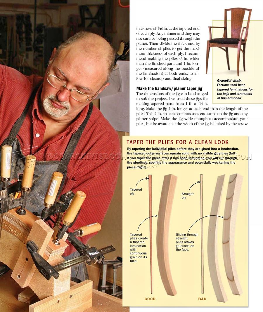 Making Curved Laminated legs