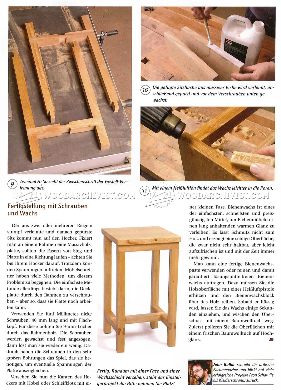 #2740 Bench Stool Plans