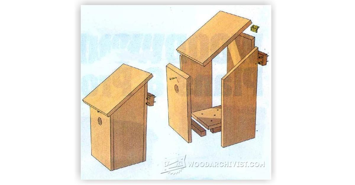 Bird Nesting Box Plans • WoodArchivist