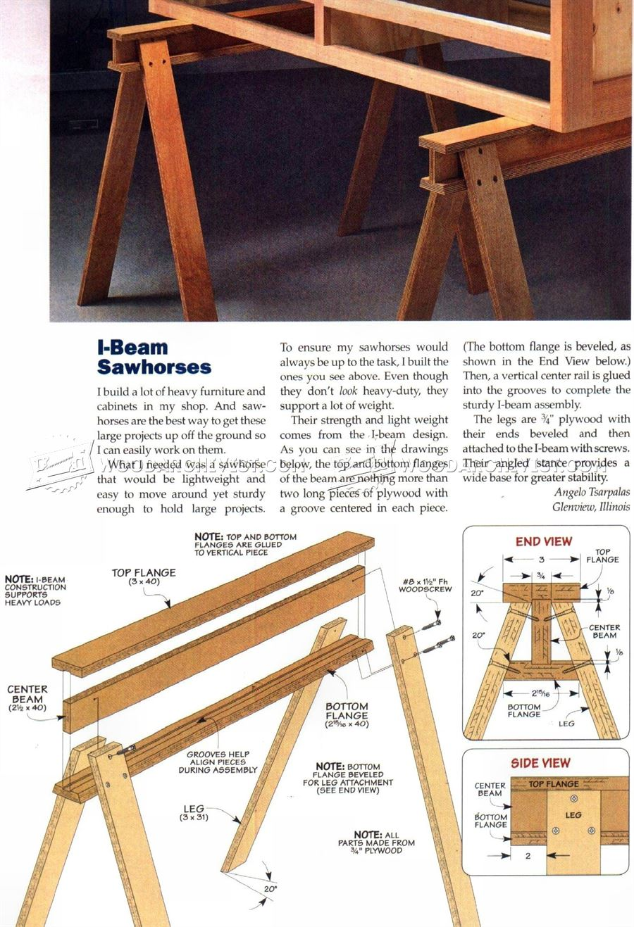 #2743 Build Sawhorse