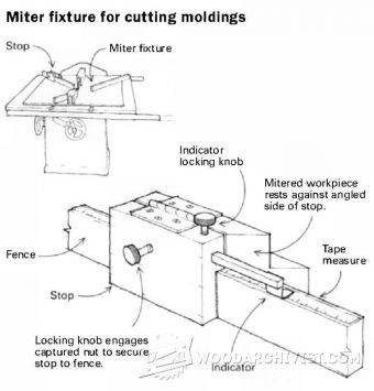 2744-Miter Sled Stop Block