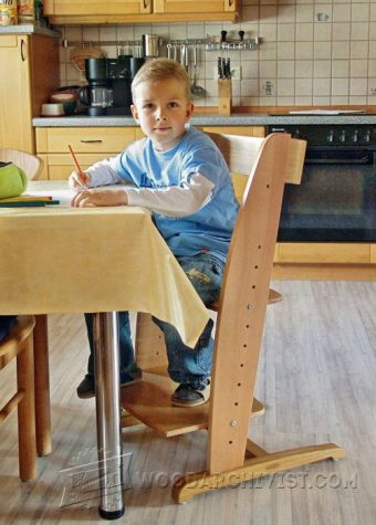2749-Wooden High Chair Plans