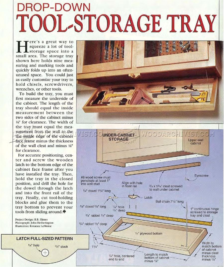 #2752 Drop-Down Tool Storage Tray
