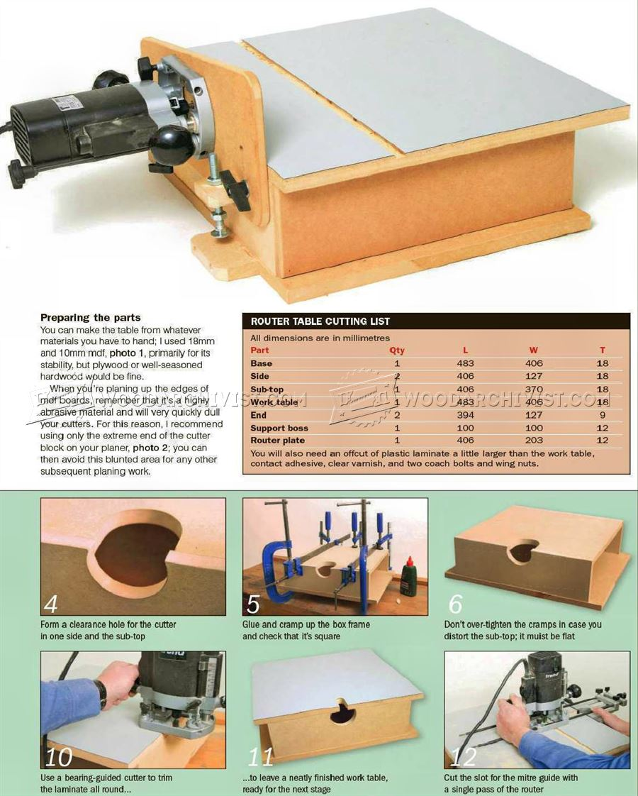 Build Horizontal Router Table