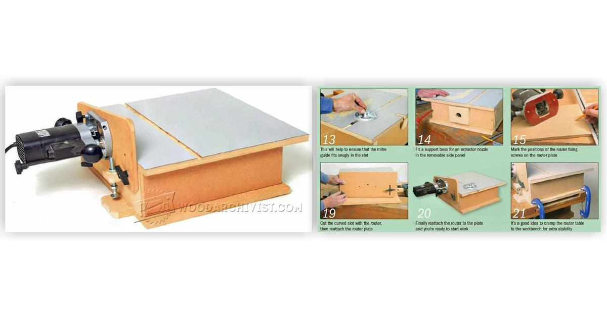 Build horizontal router table woodarchivist for Best horizontal router table