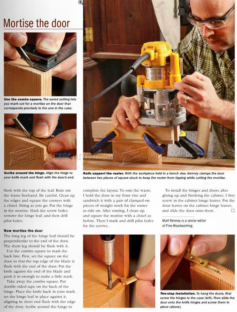 How to Install Knife Hinges