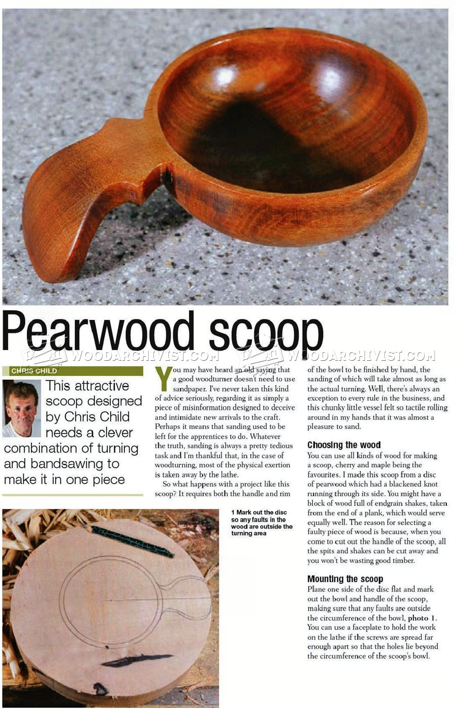#2762 Woodturning Scoop