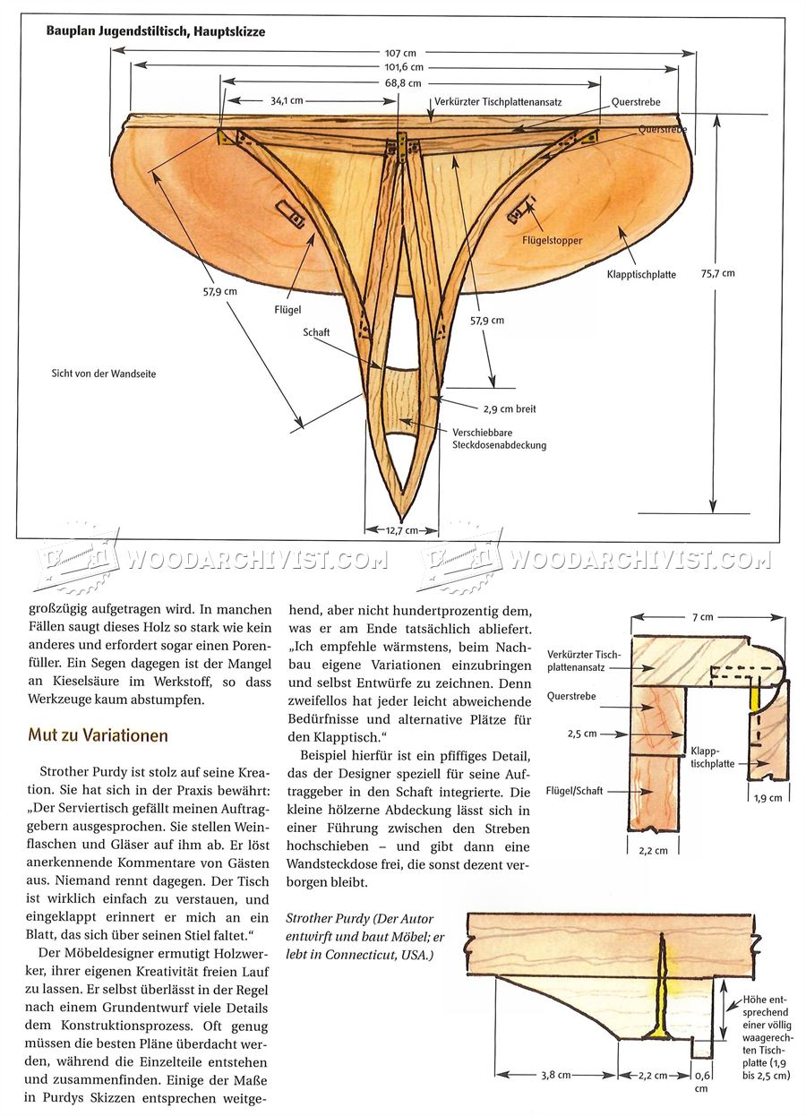Wall Mounted Drop Leaf Table Plans