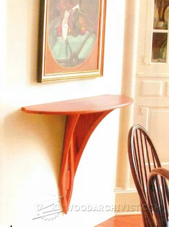 2765-Wall Mounted Drop Leaf Table Plans
