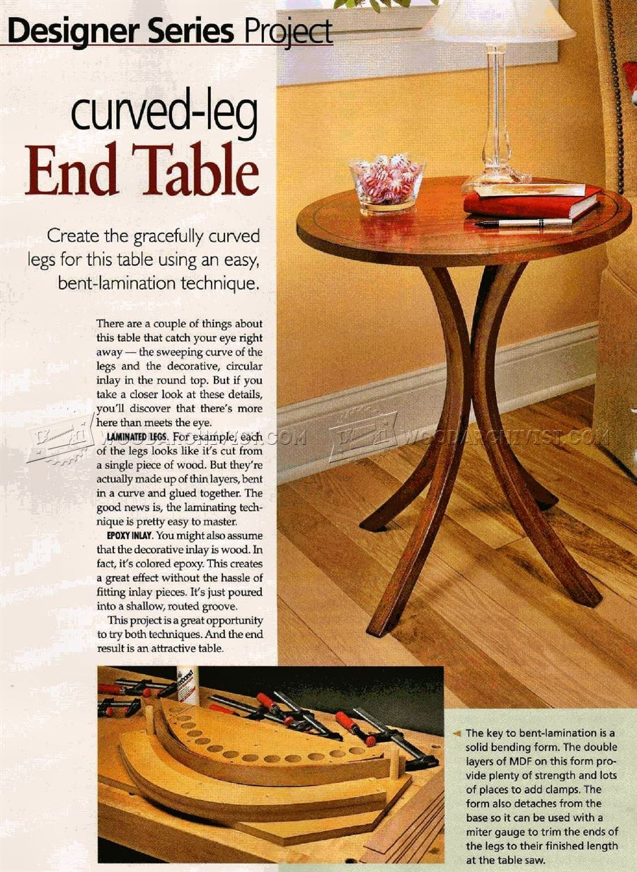 #2767 Curved-Leg End Table Plans