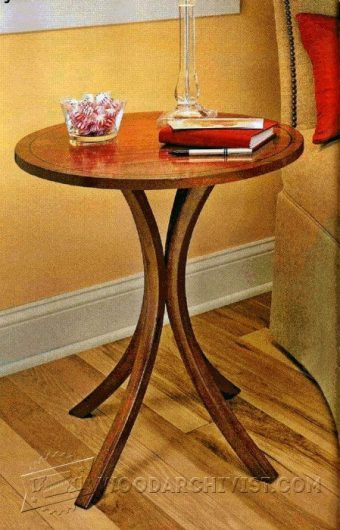 2767-Curved-Leg End Table Plans