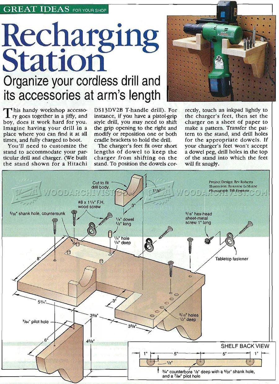#2772 Cordless Drill Charging Station Plans