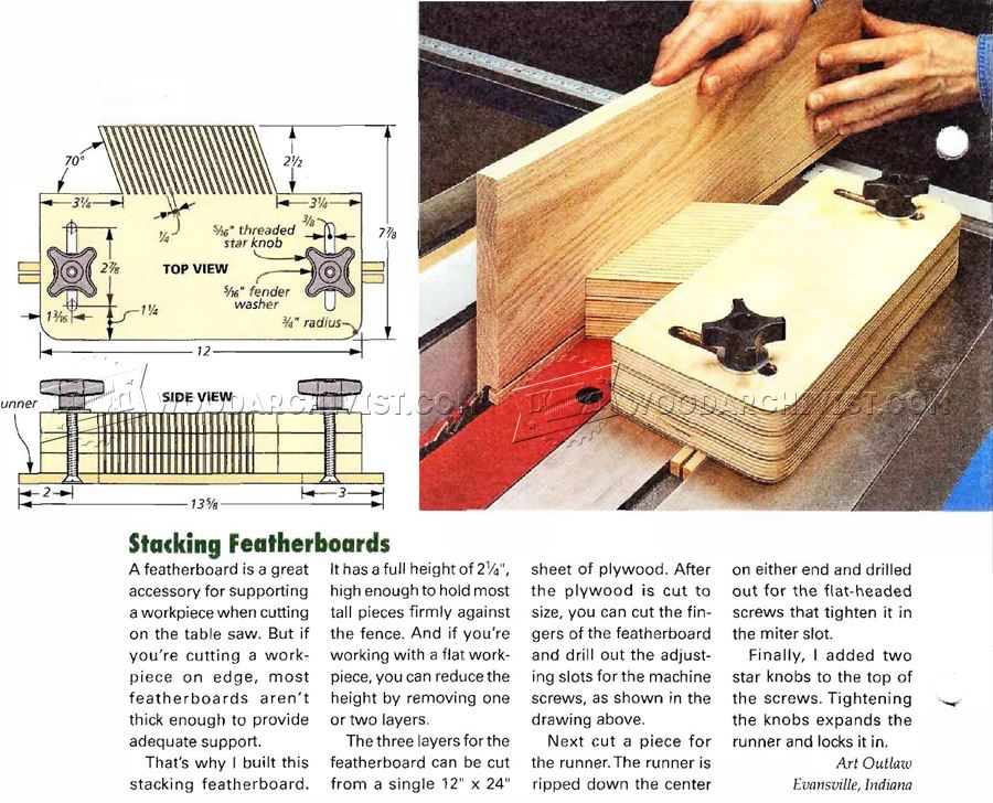 #2774 Table Saw Featherboard Jig