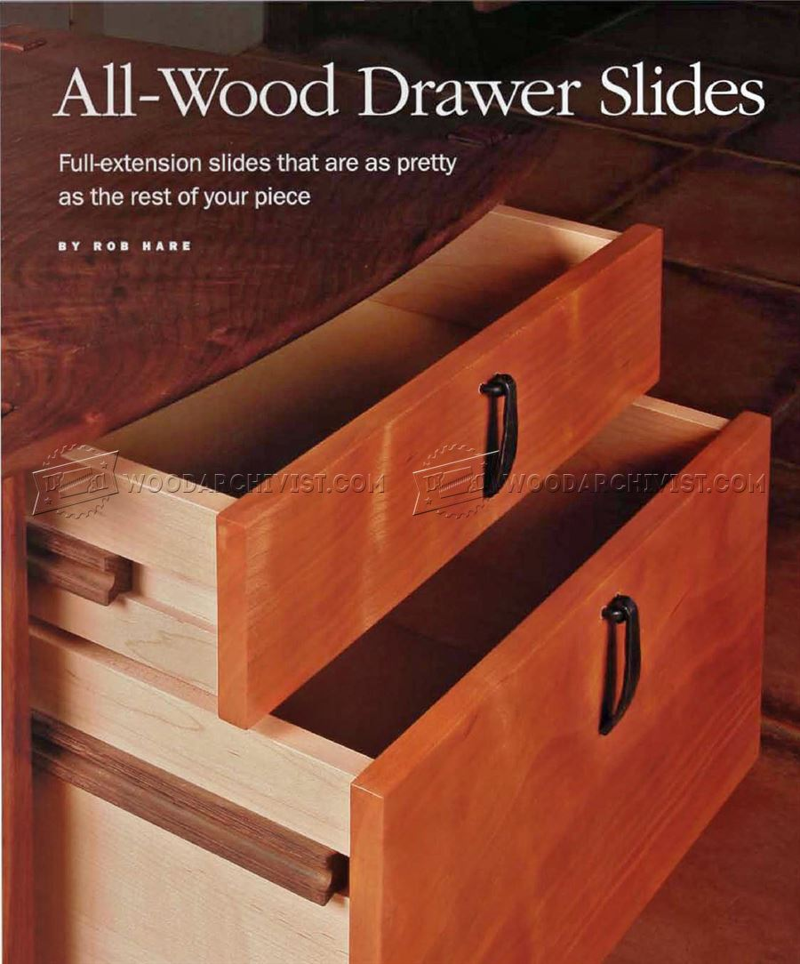 DIY Wooden Drawer Slides