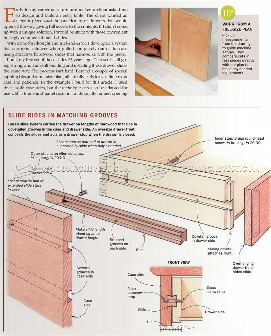 #2776 DIY Wooden Drawer Slides
