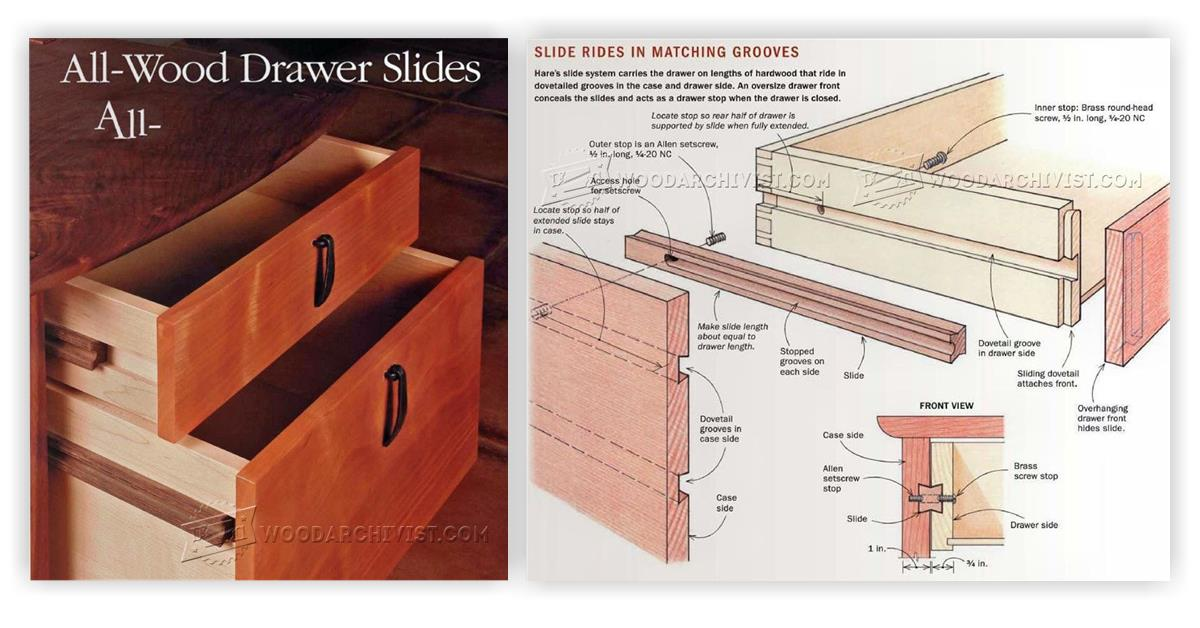 Diy Wooden Drawer Slides Woodarchivist