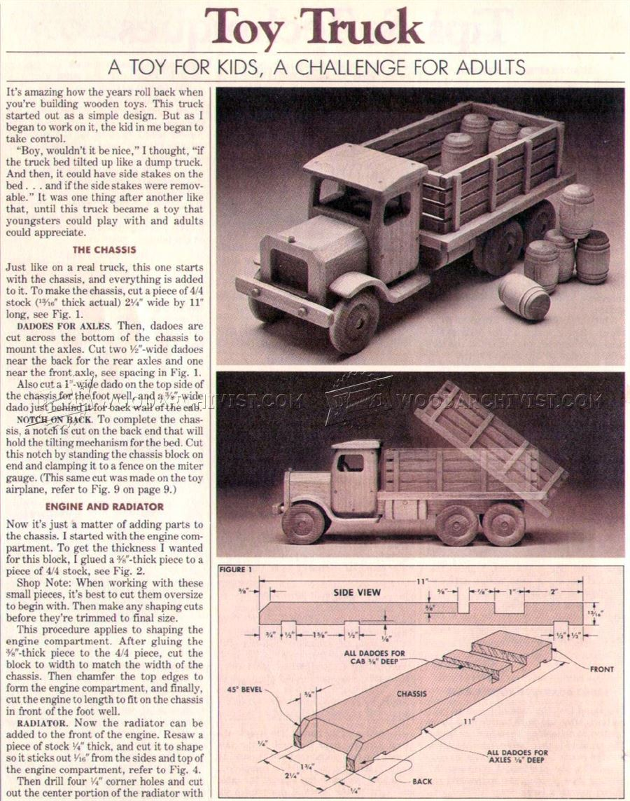 #2779 Wooden Toy Truck Plans