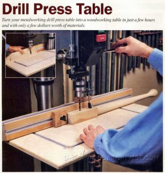 2782-DIY Drill Press Table