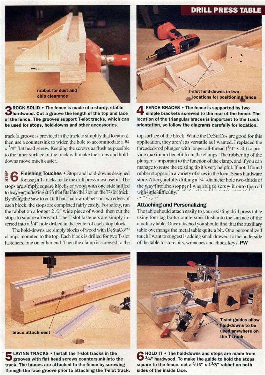 #2782 DIY Drill Press Table