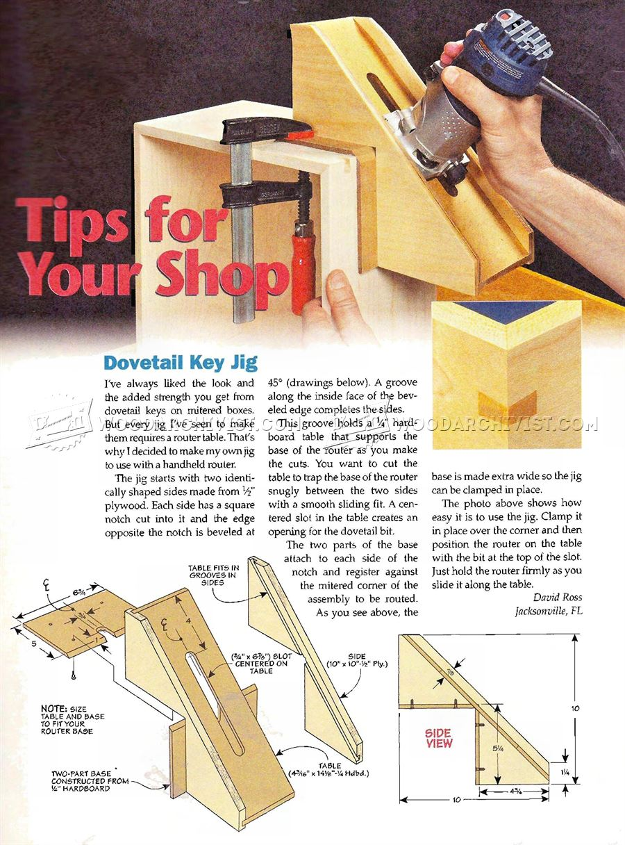 Dovetail Key Jig