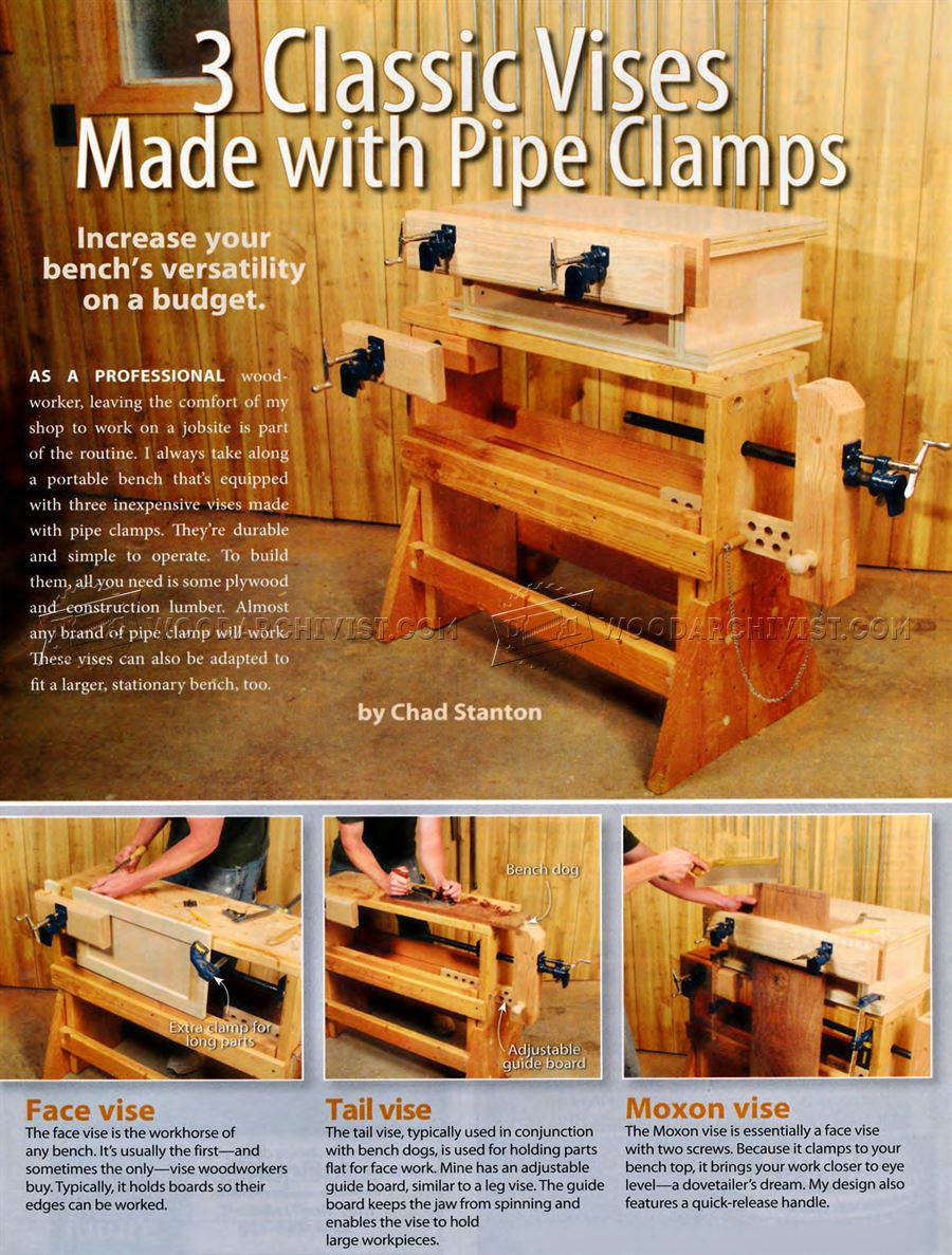 DIY Pipe Clamp Vise