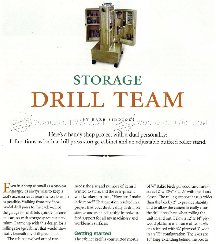 #2790 Mobile Drill Press Stand Plans