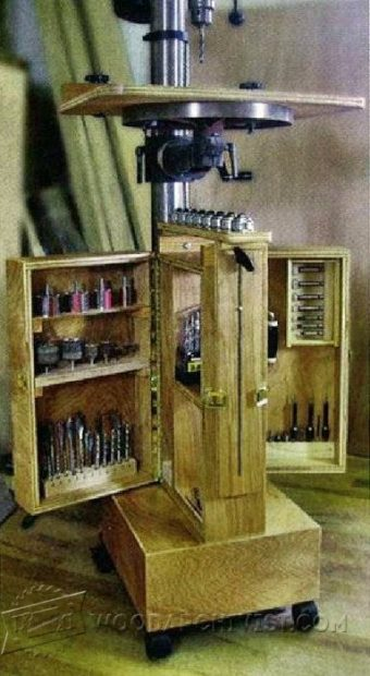 2790-Mobile Drill Press Stand Plans