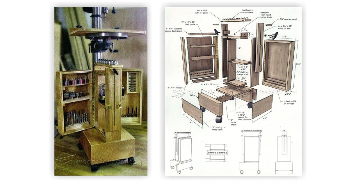 Drill Press Cabinet Woodworking Plans With Perfect Images In India | smakawy.com