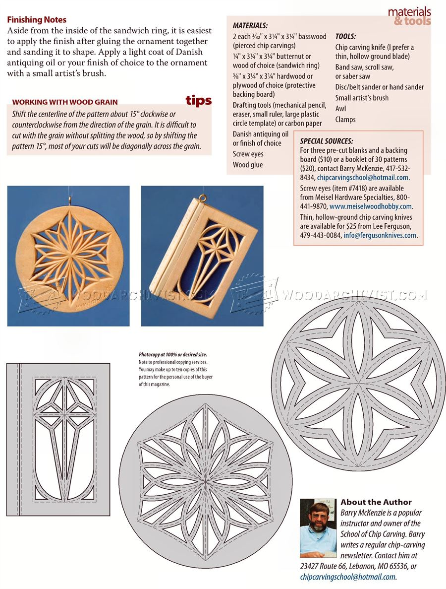 Ornaments - Chip Carving Patterns