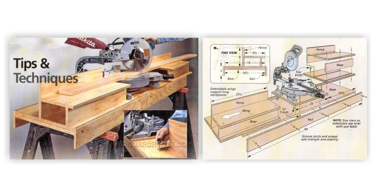 Diy portable miter saw stand woodarchivist for 12 inch portable table saw