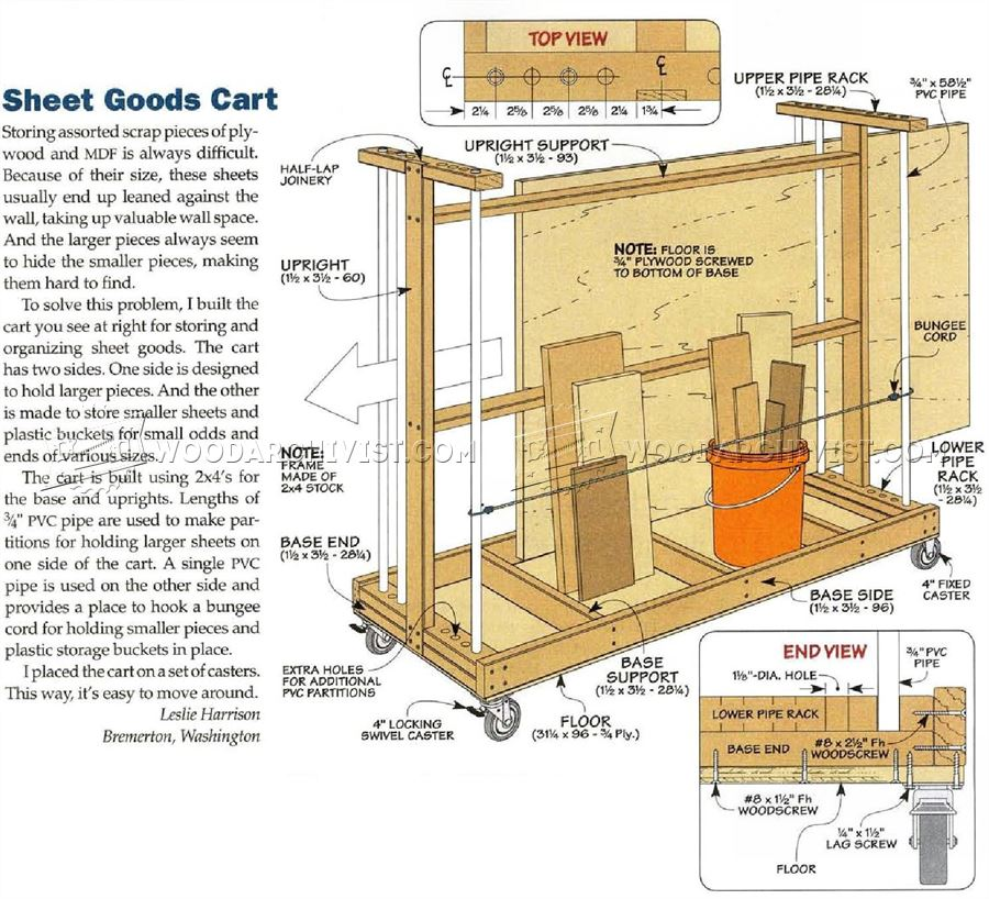 Plywood Storage Cart Plans