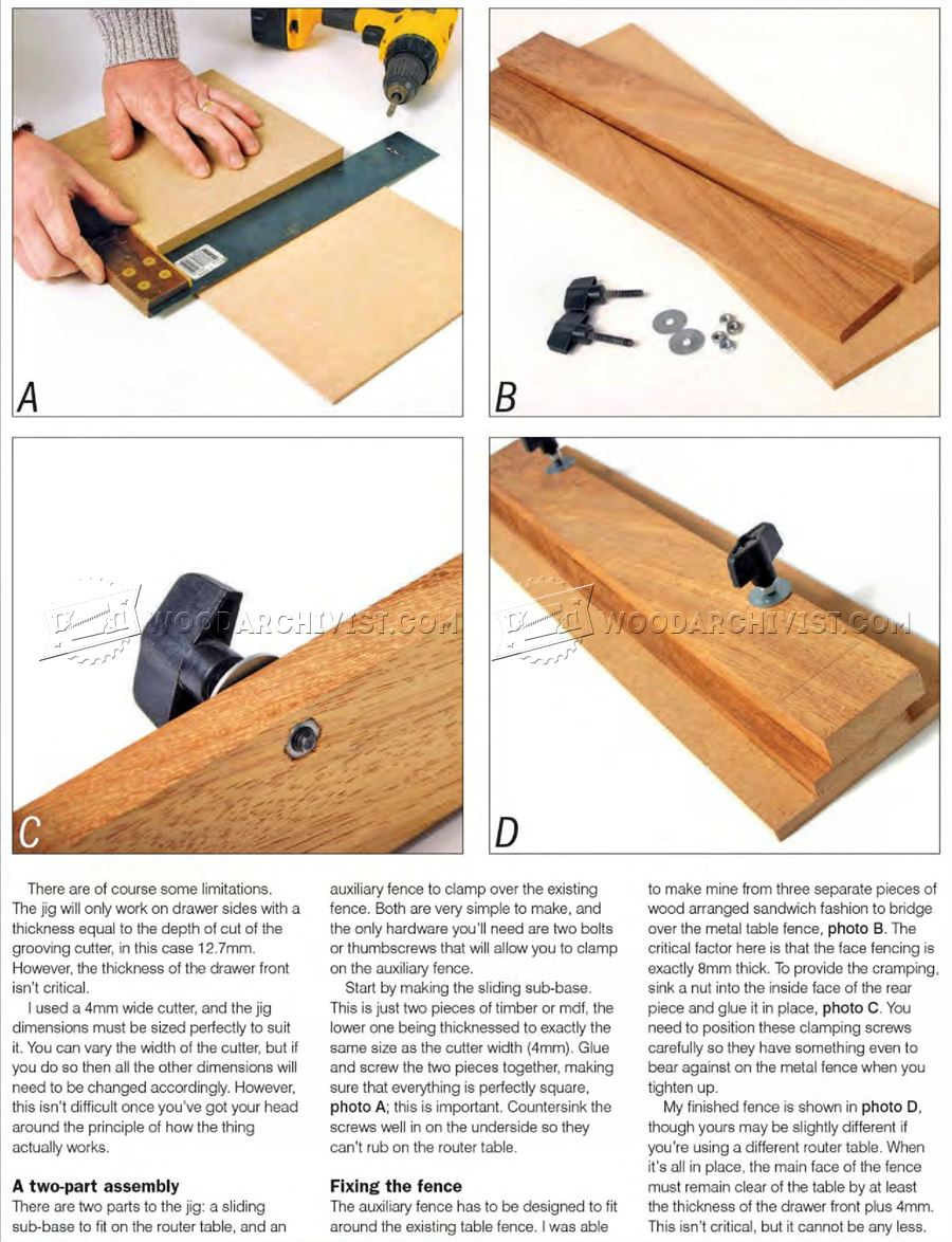 Drawer Lock Joint Jig