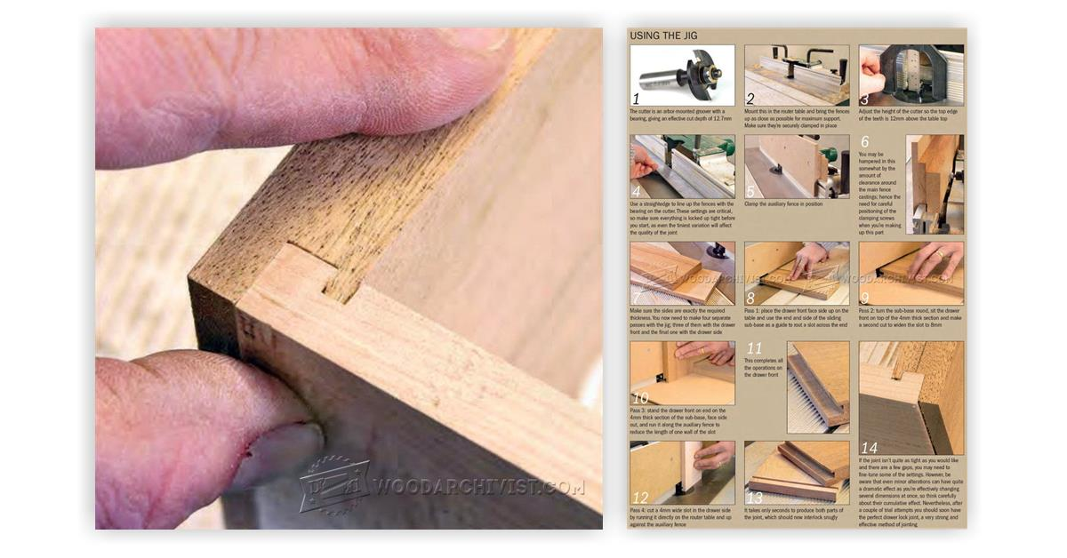 Drawer Lock Joint Jig Woodarchivist