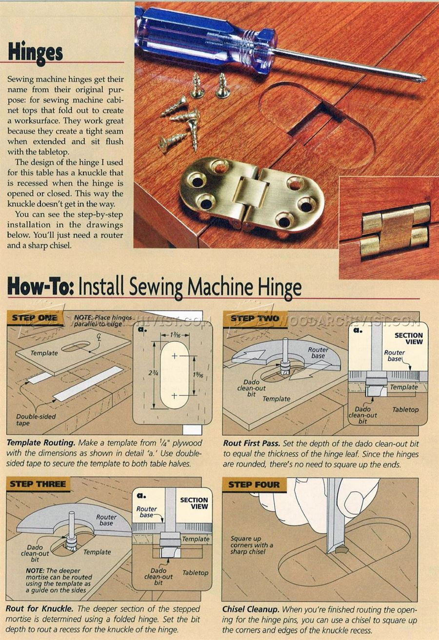 #2795 Installing Sewing Machine Hinges