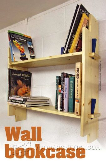 2797-Wall Bookcase Plans