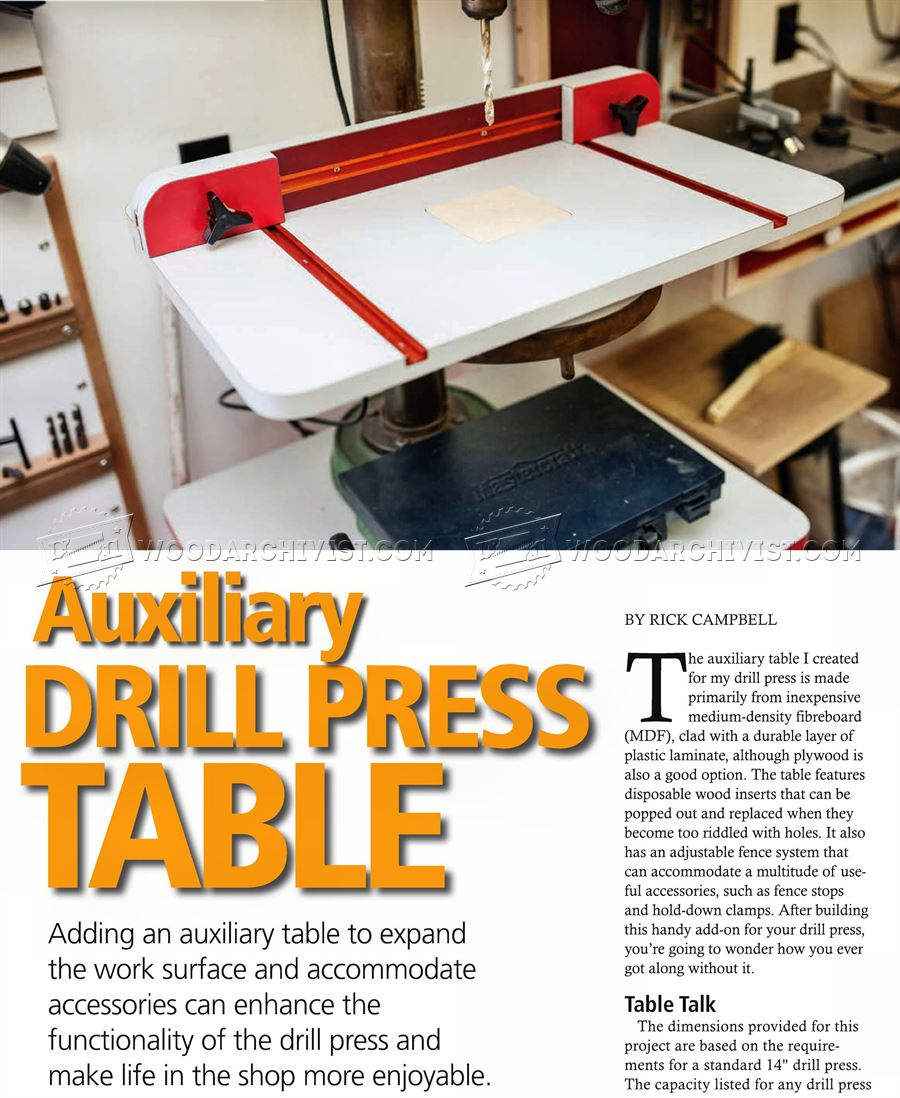 #2798 Build Drill Press Table