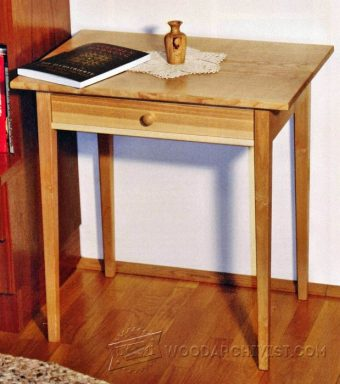 2803-One-Drawer Side Table Plans