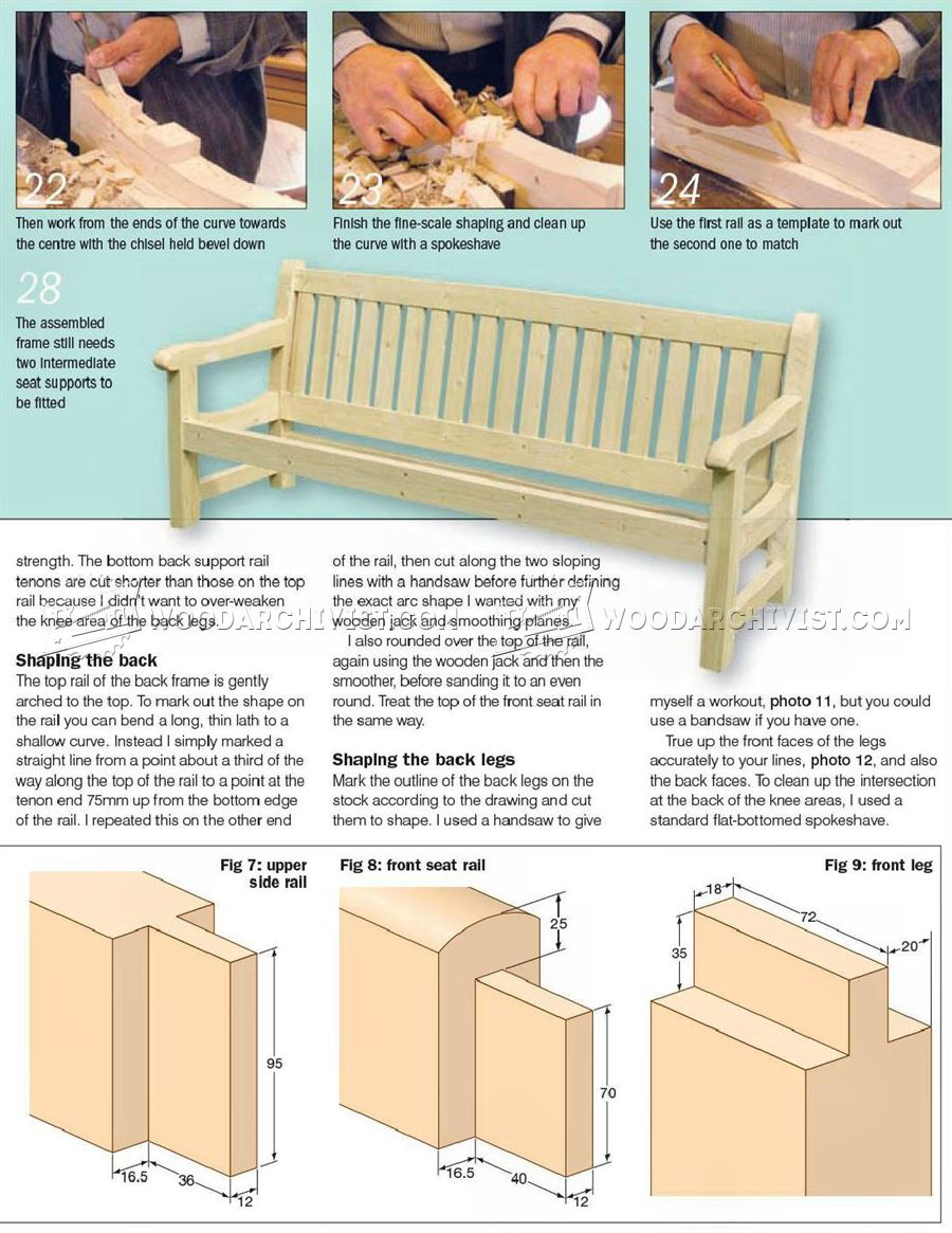 23 Unique Garden Bench Plans Woodworking