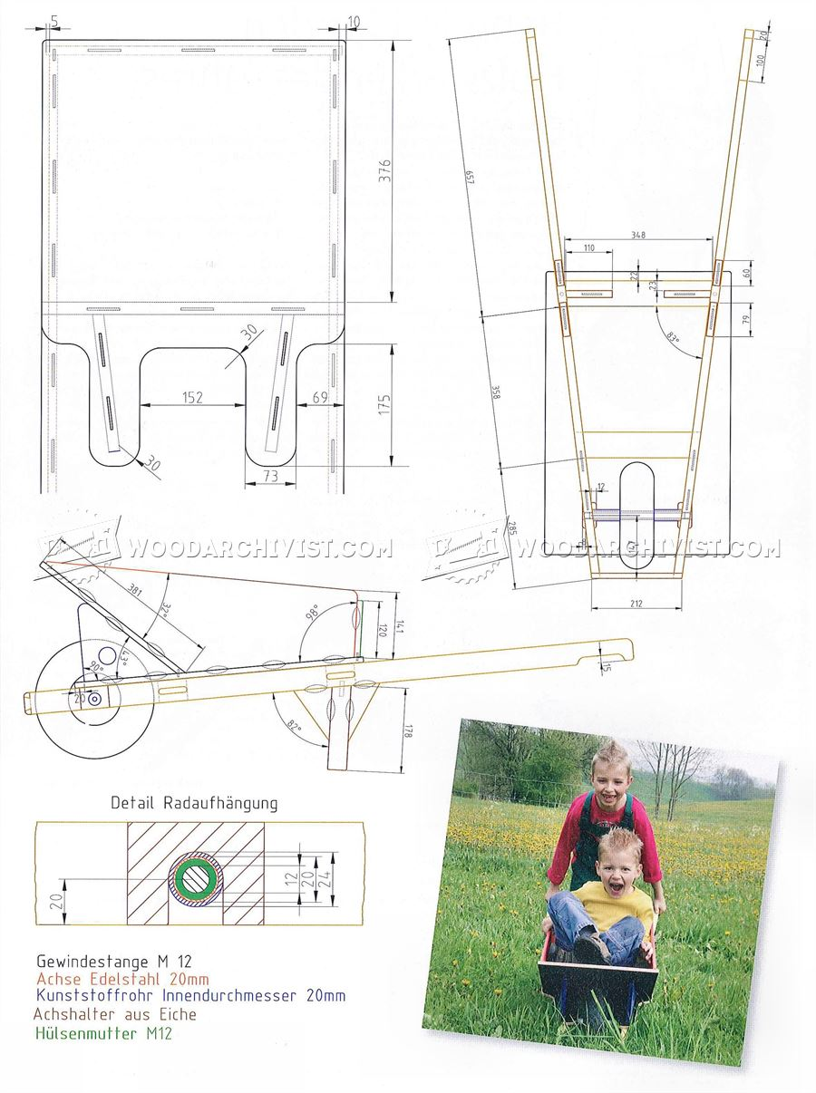 DIY Childrens Garden Cart WoodArchivist