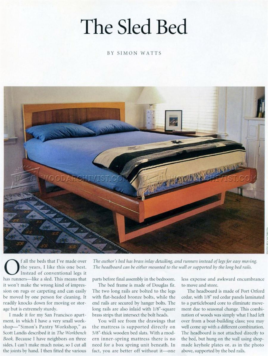 Sled Bed Plans