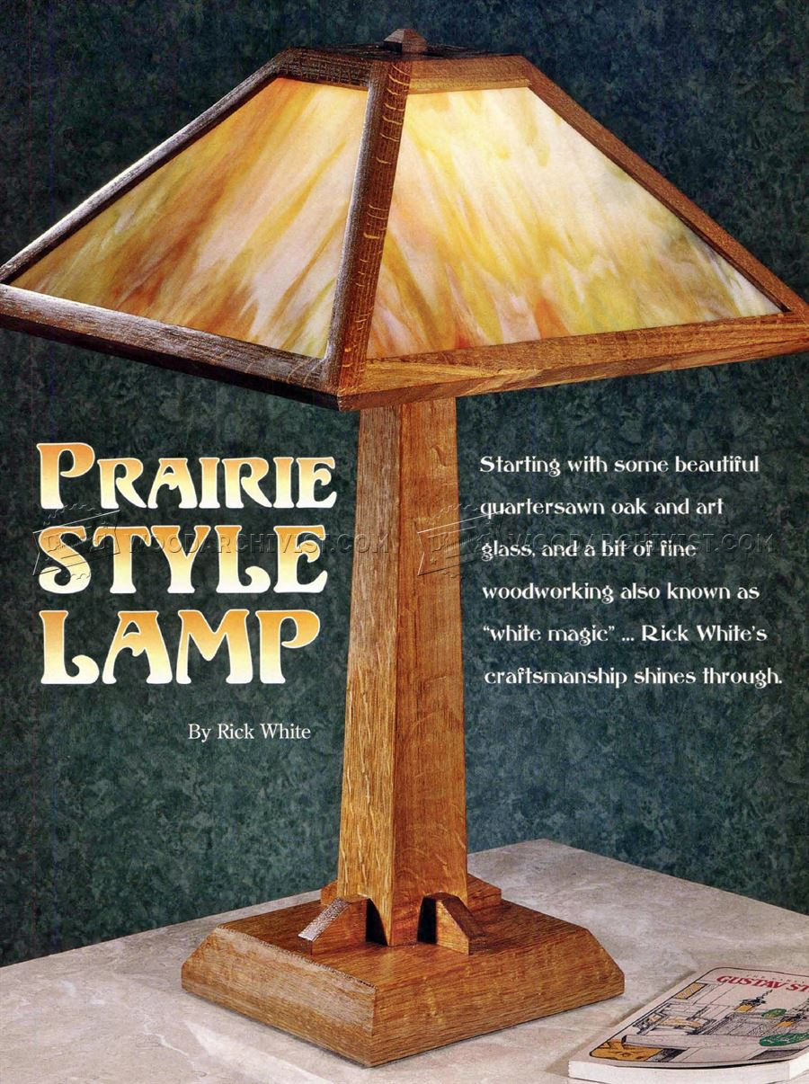 Prairie Table Lamp Plans Woodarchivist