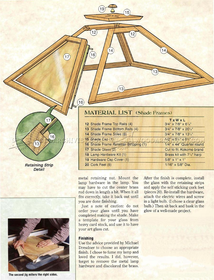 Prairie Table Lamp Plans