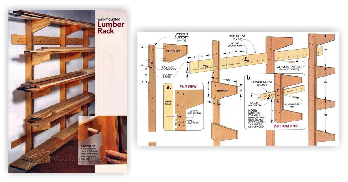Lumber Rack Plans • WoodArchivist
