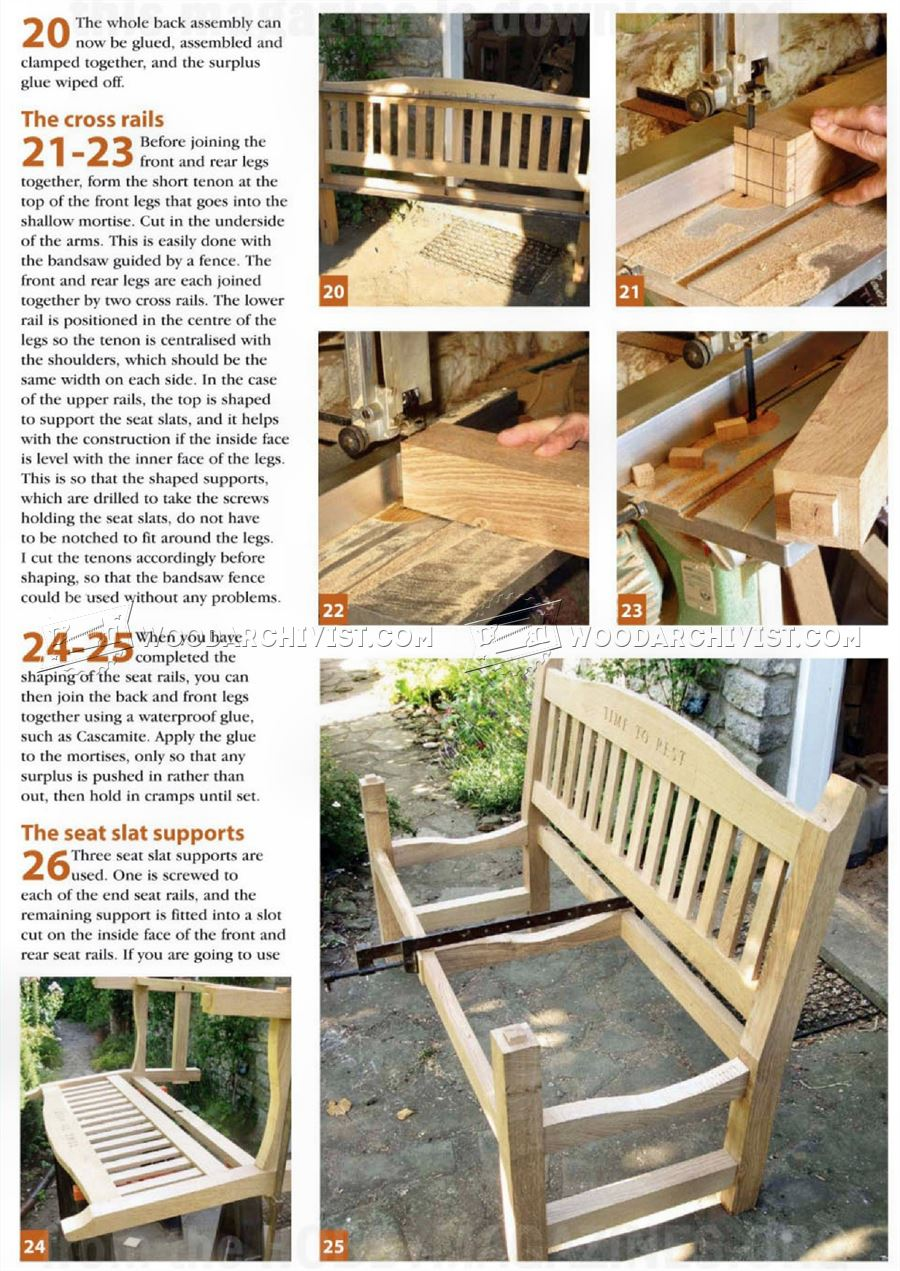 Outdoor furniture plans - Garden Seat Plans Garden Seat Plans